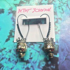 Betsey Johnson NWT skull drop earrings